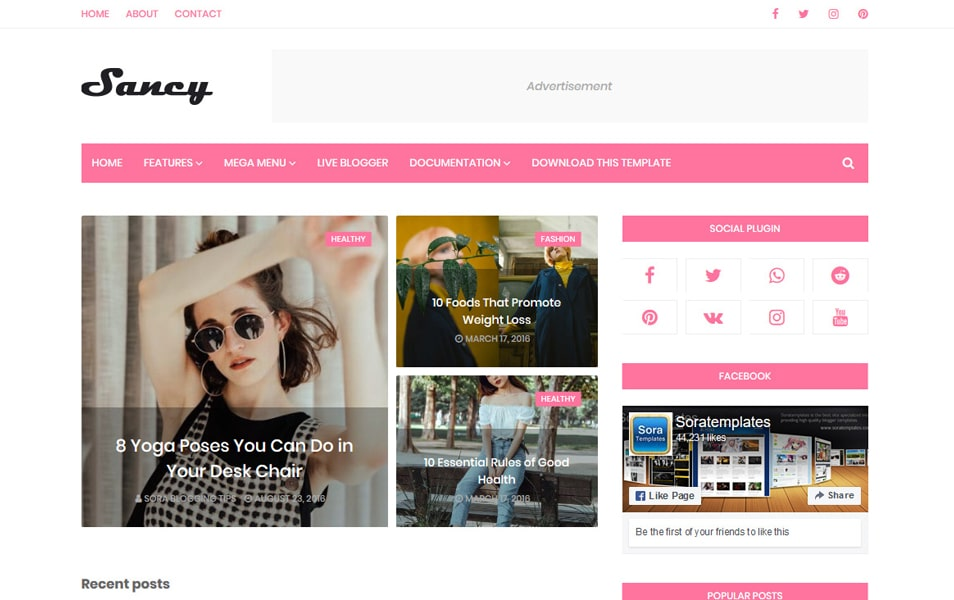 Sancy Responsive Blogger Template
