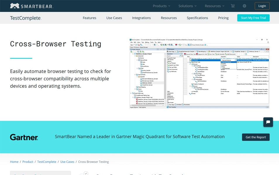 SmartBear TestComplete - Cross-Browser Testing Tools