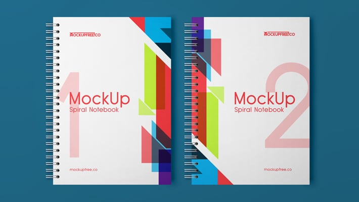 Spiral Notebook Free PSD Mockup