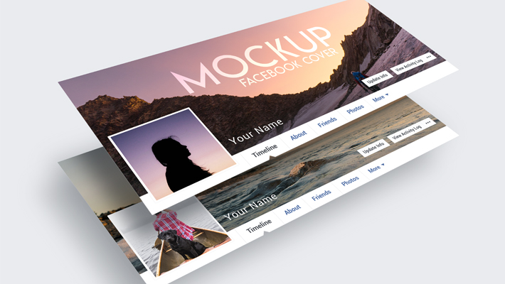 3 Free Facebook Cover Mock-ups in PSD