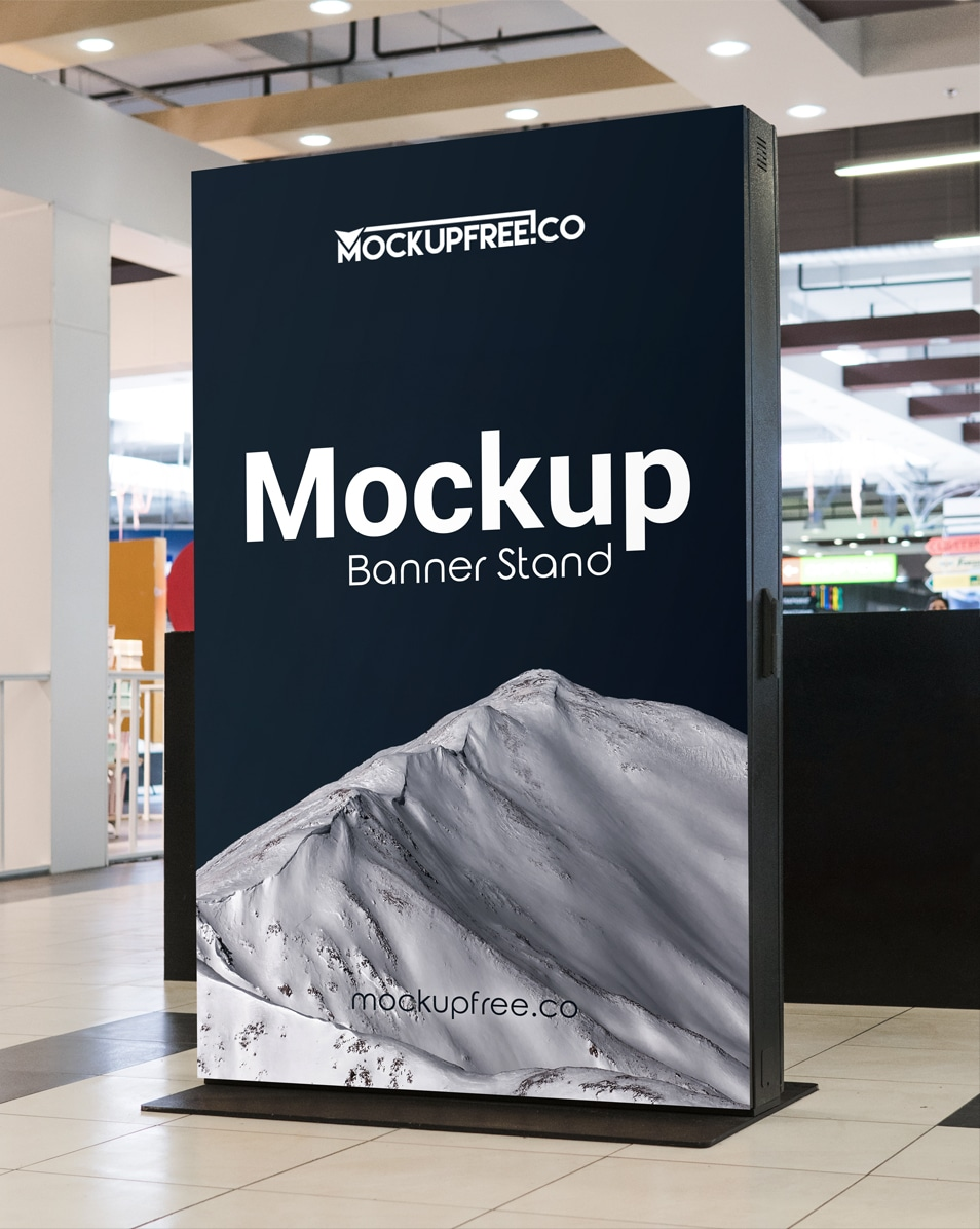 Banner Stand Free PSD Mockup