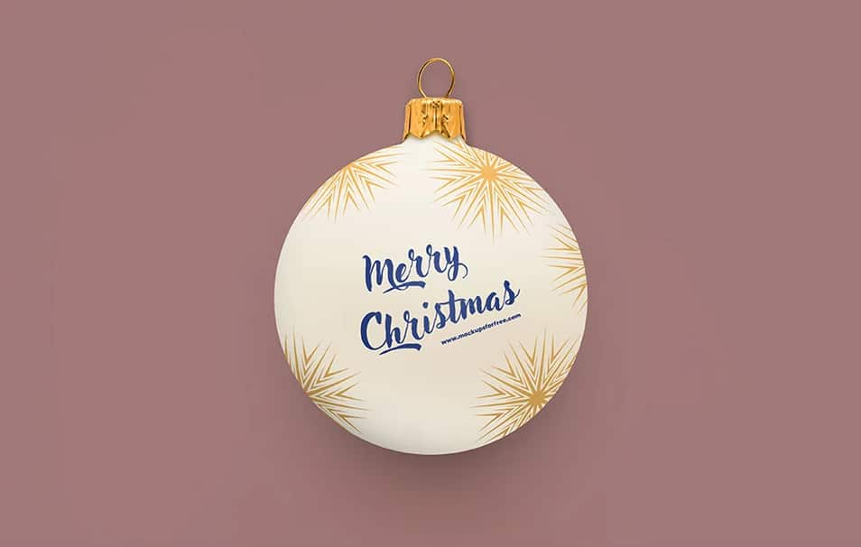 Christmas Bauble Mockup