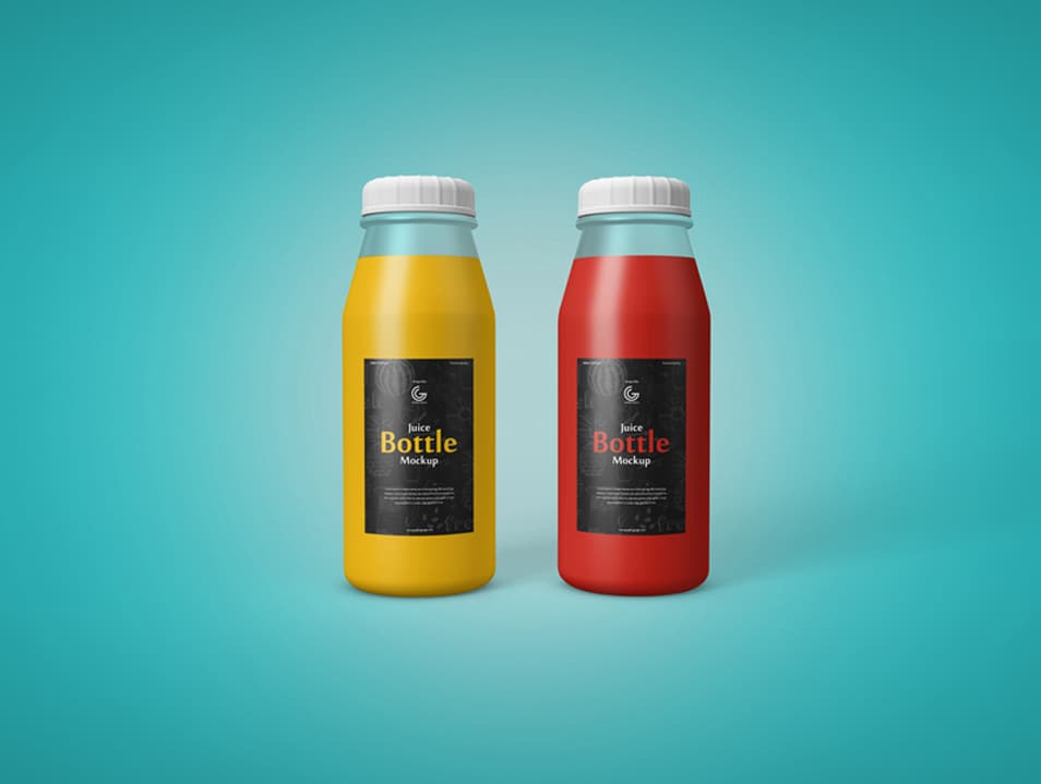 Free Juice Bottle Mockup