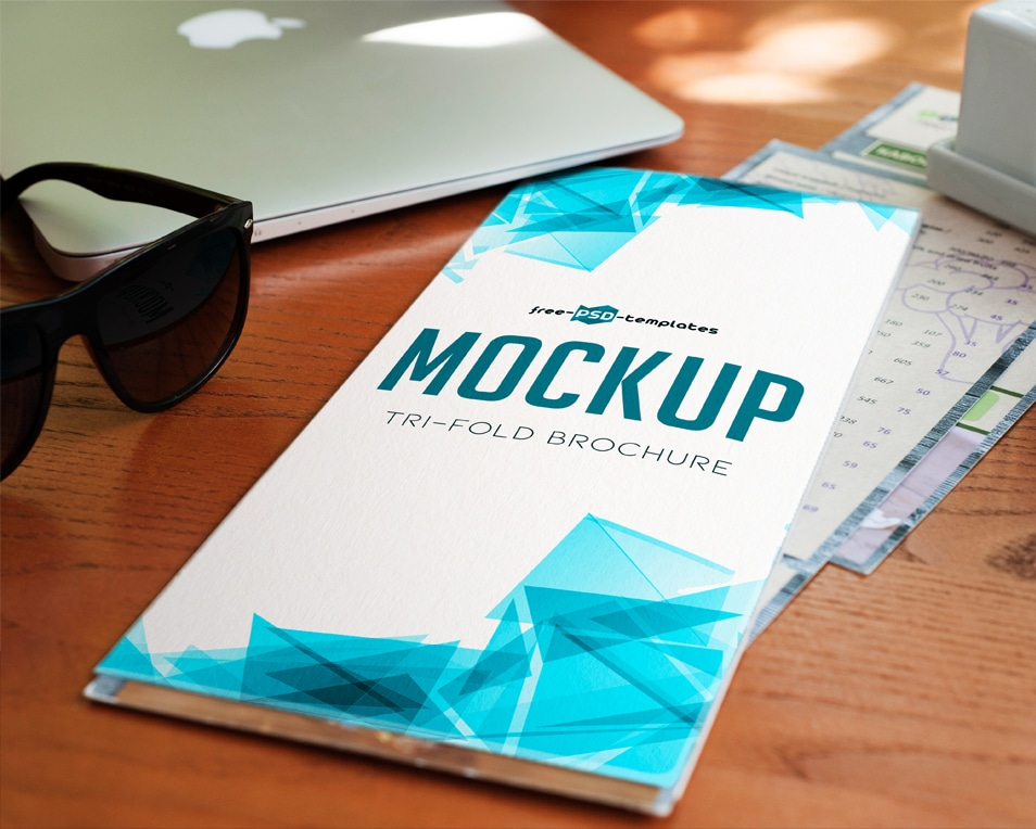 Free Tri-Fold Brochure Mock-up in PSD