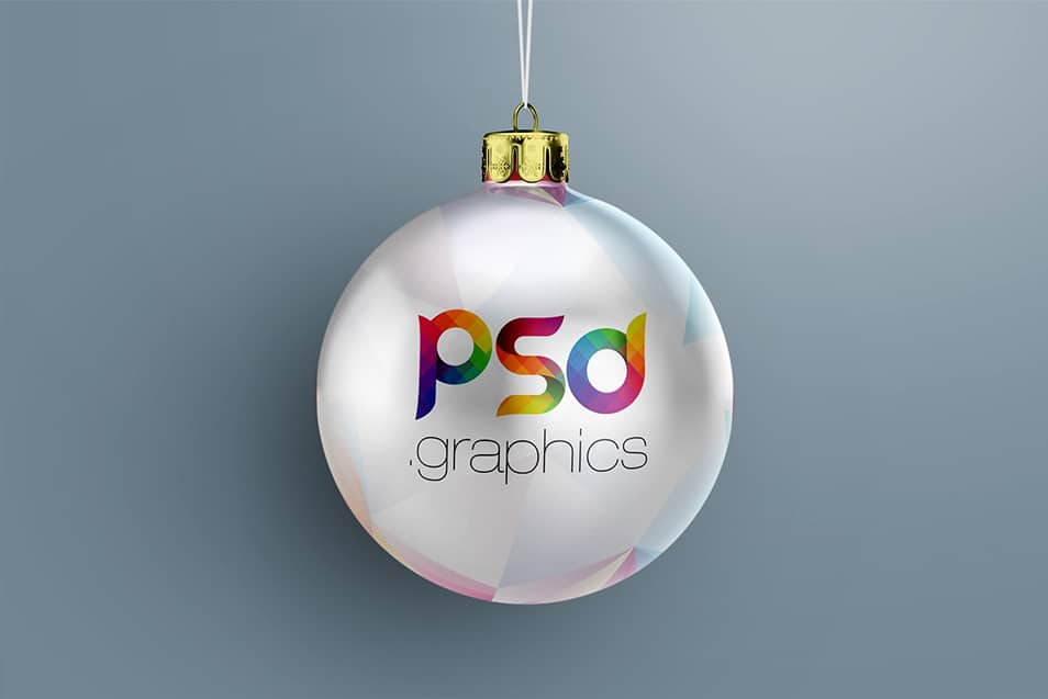 Hanging Christmas Ball Mockup