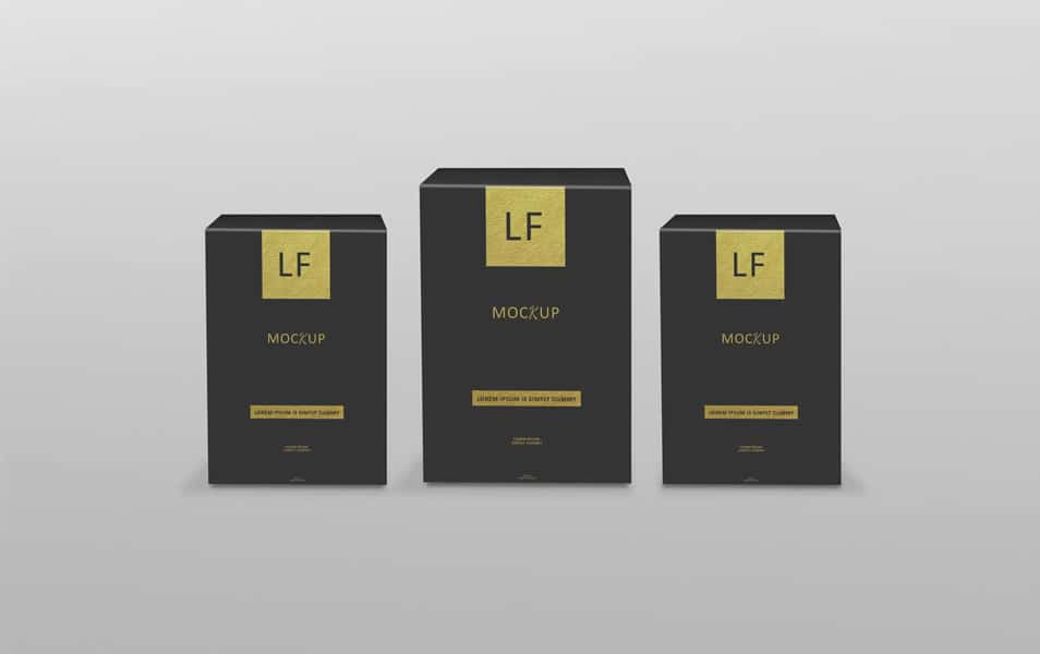 New Black Box Packaging Mockup