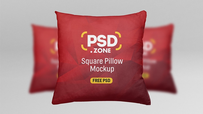 Square Pillow Mockup Free PSD
