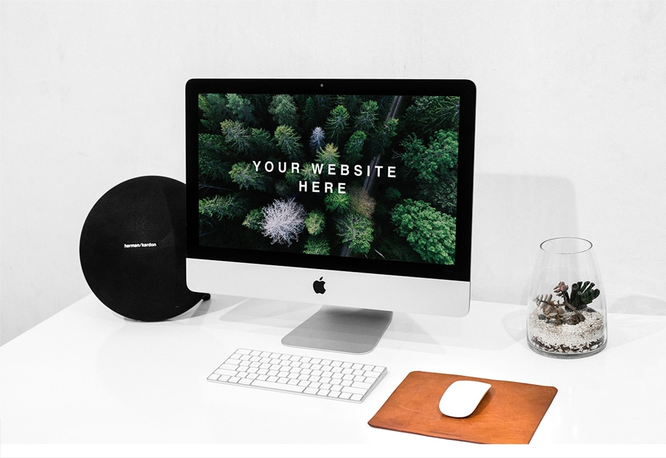 Workspace iMac PSD Mockup