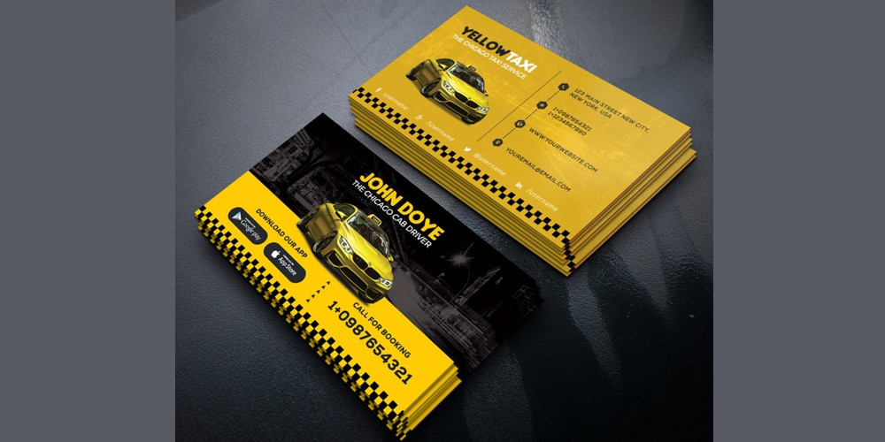 Taxi Service Creative Business Card Template