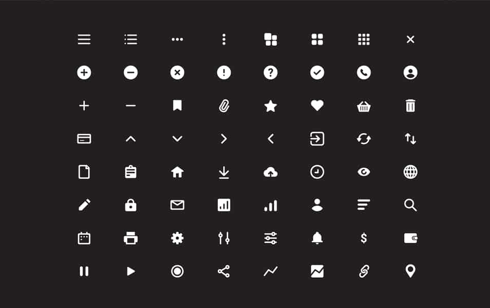 64 Free Essential Icons
