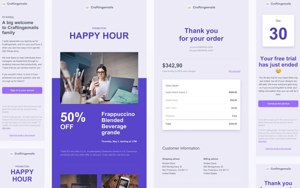 8 Free Responsive Email Templates