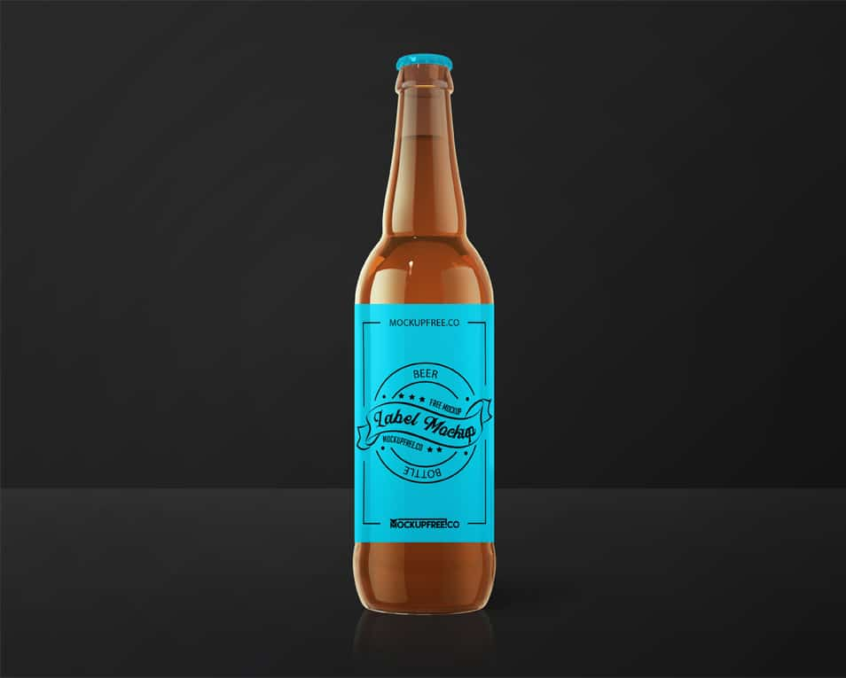 Beer Label Free PSD Mockup