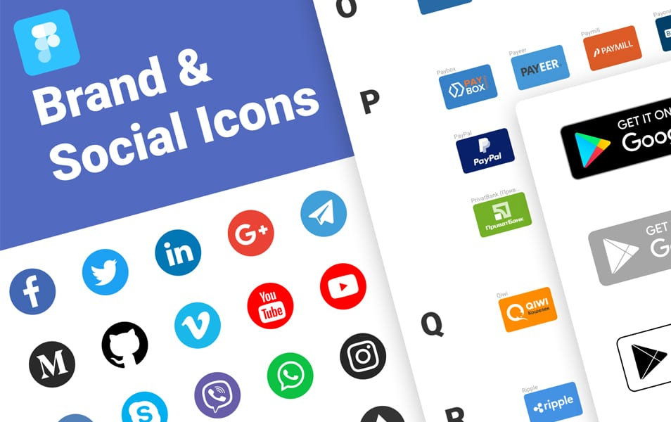Brand & Social Icons for Figma