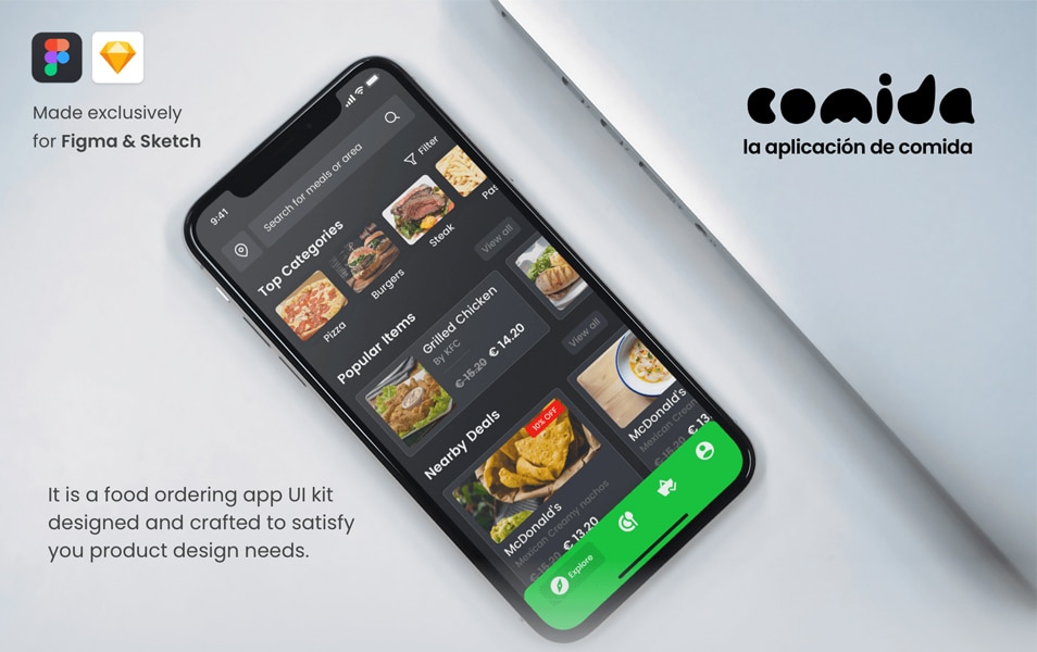Cominda Food Ordering Mobile UI Kit