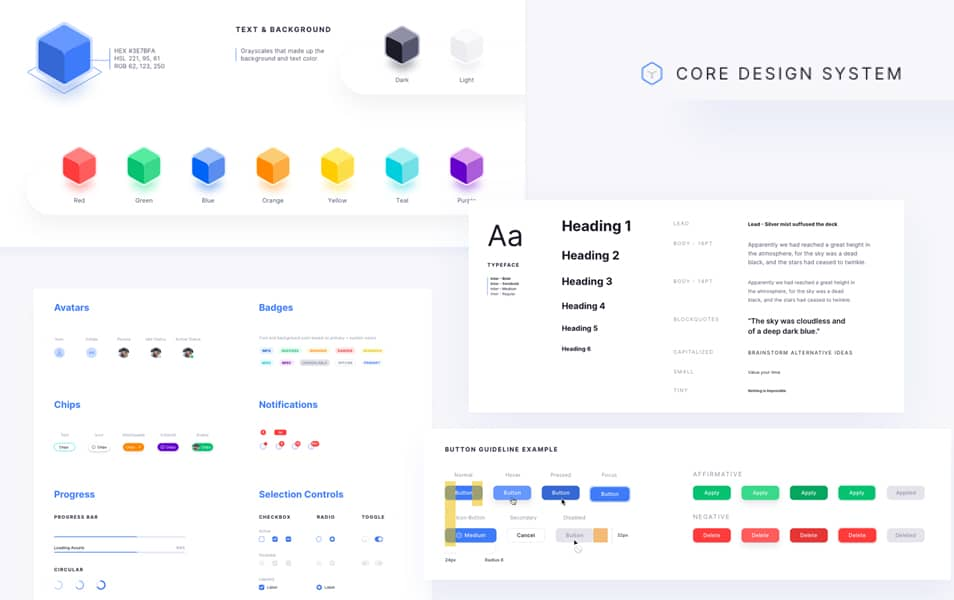Core Design System Figma Templatee