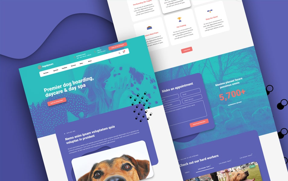 Dog Daycare Homepage Figma Template
