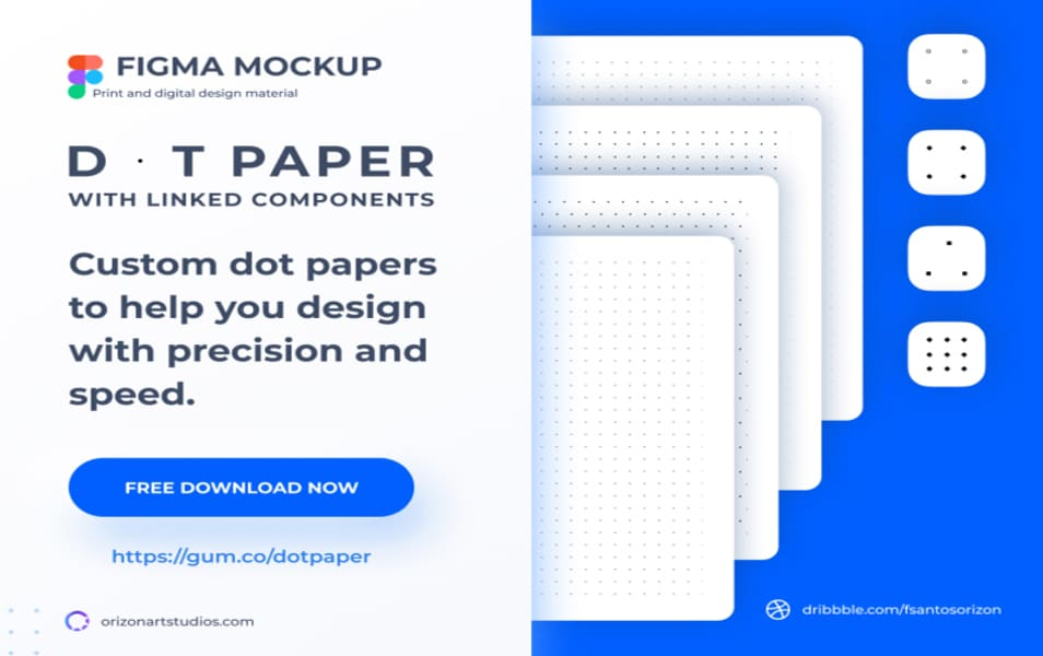 Dot and Grid Paper Mockup Template