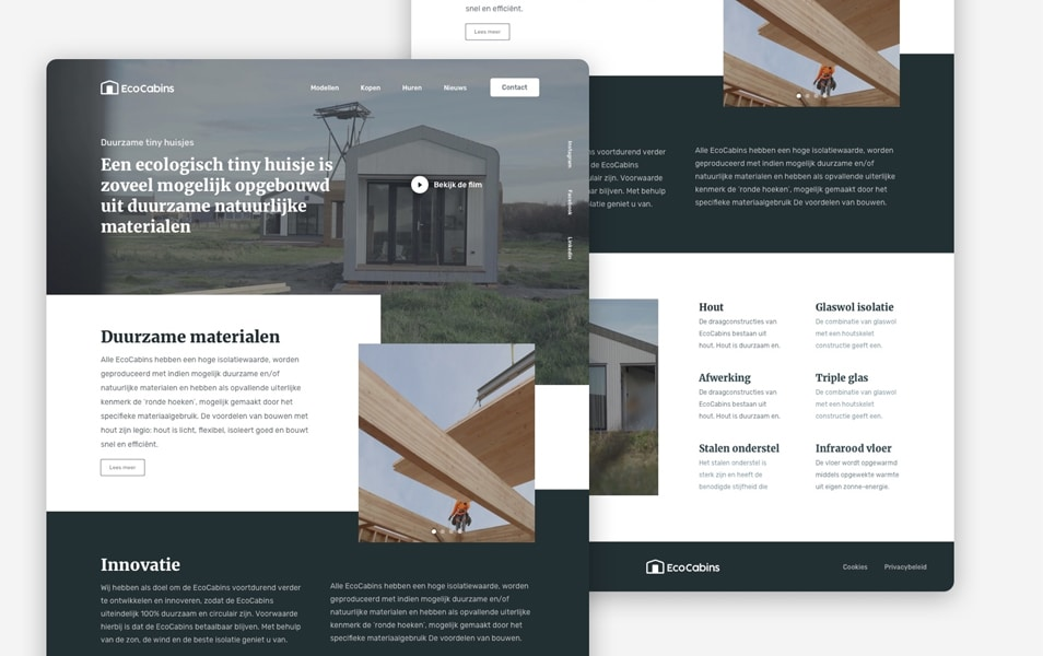 EcoCabins Landing Page Template