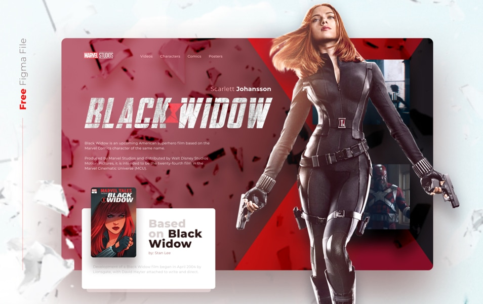 FREE ANIMATED Black widow concept