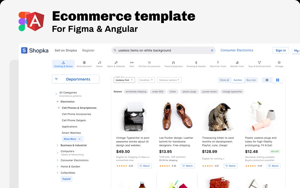Figma Ecommerce Template