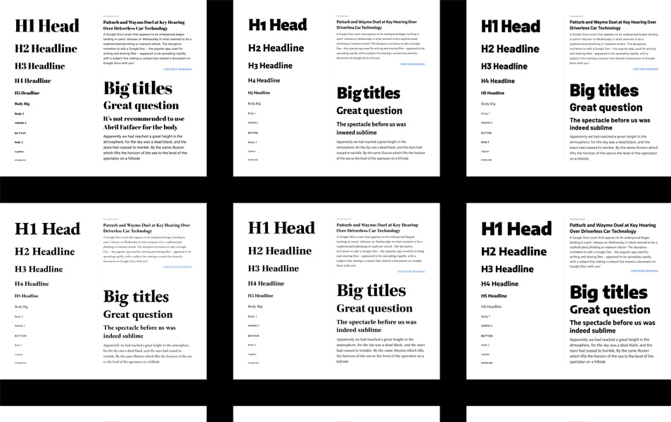 Figma Fonts Preview Template
