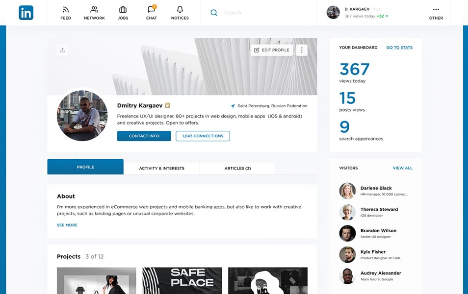 Figma LinkedIn Re-Design