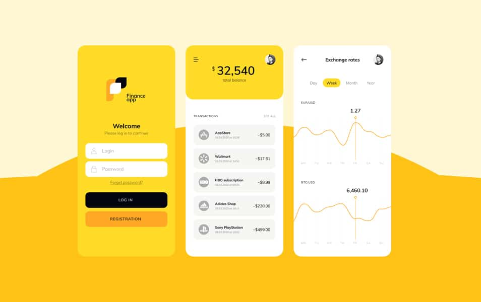 Finance App Free Figma Template