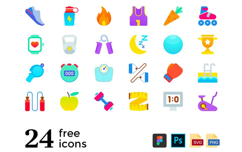 Fitness & Sport Freebie Icons