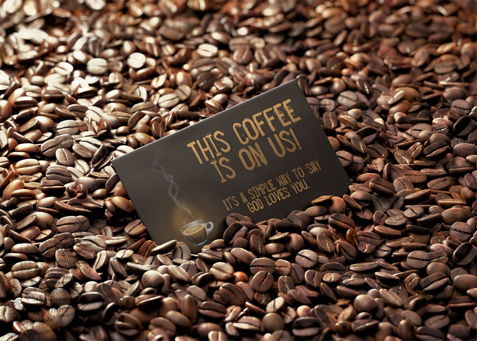 Free Coffee Business Card PSD Mock Up