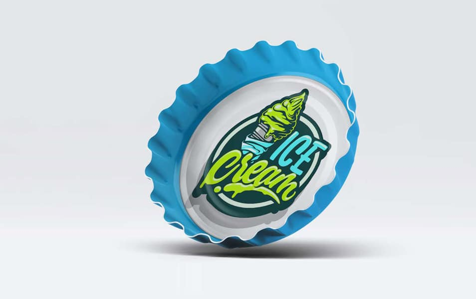 Free Download Bottle Cap Presentation Mockup