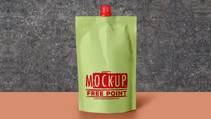 Free Download Spout Pouch PSD Label Mockup
