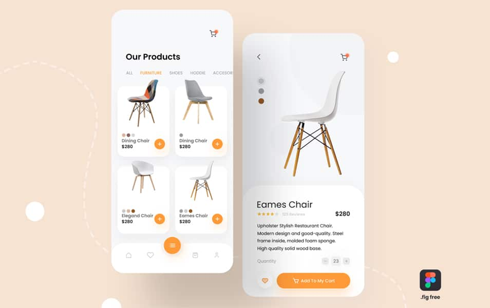 Free E-commerce App UI