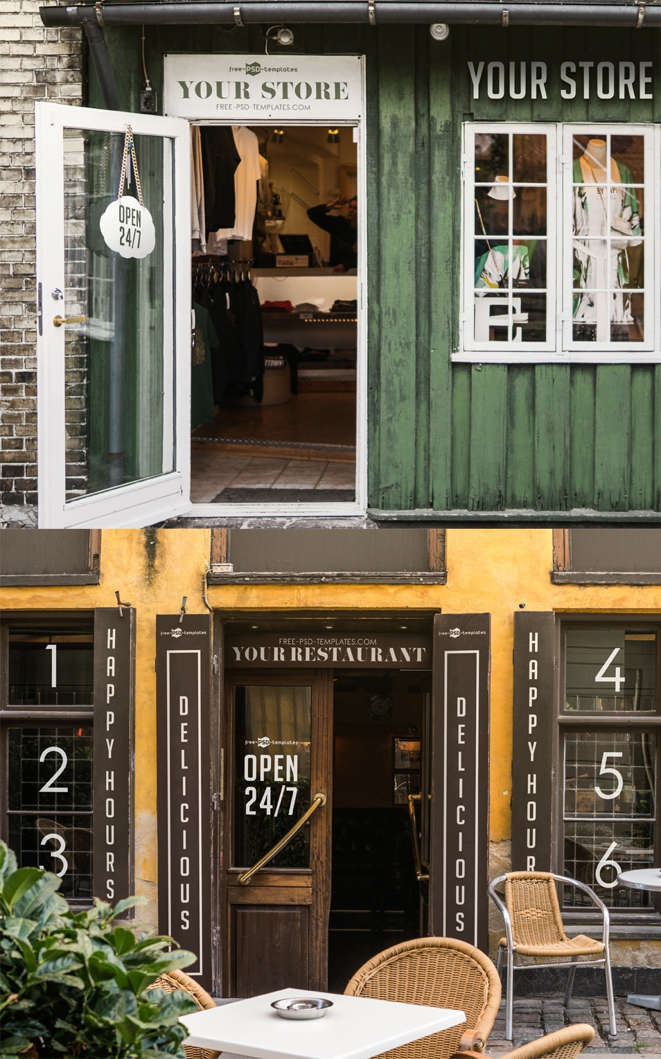 Free Facades and StoreFronts MockUps