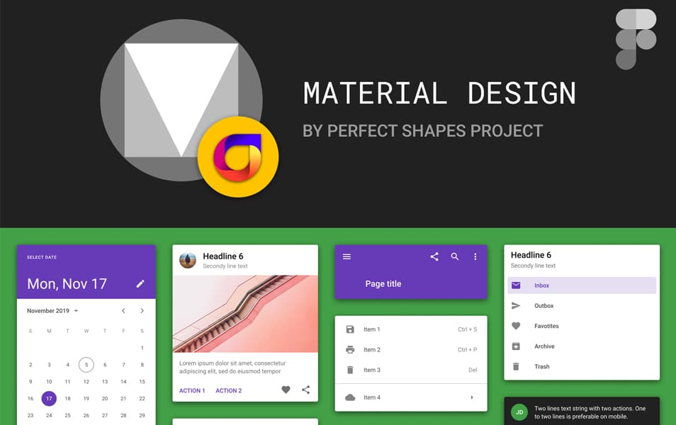 Free Material Design Kit For Figma