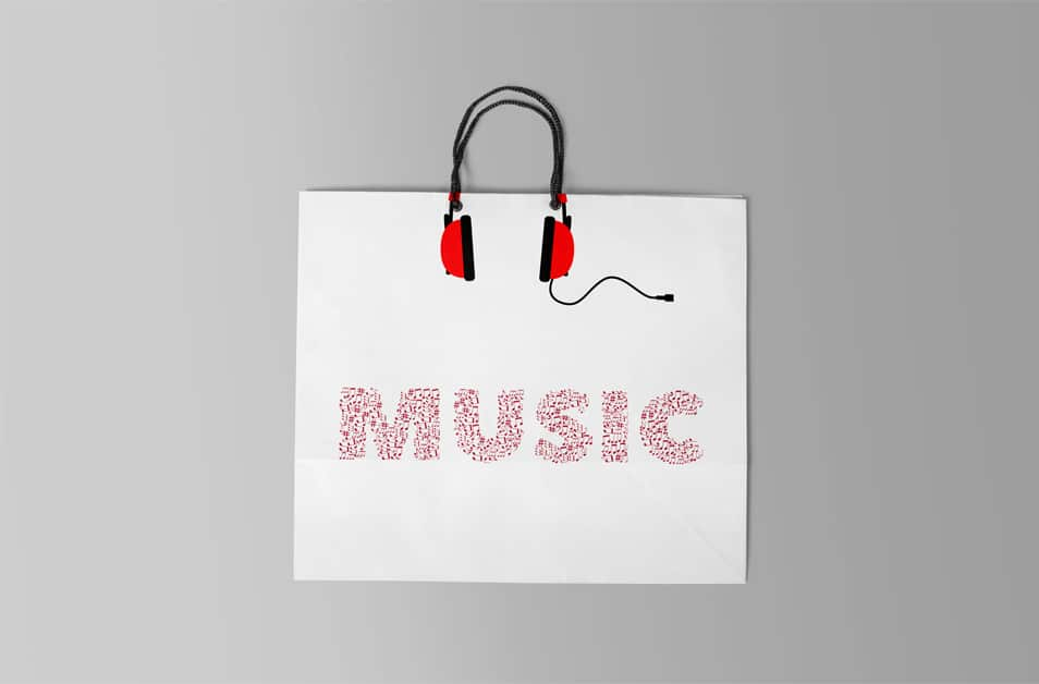 Free Music Shopping Bag Mockup
