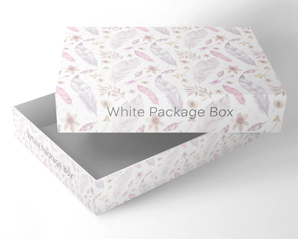 Free PSD Packaging Box Mockup in White Color