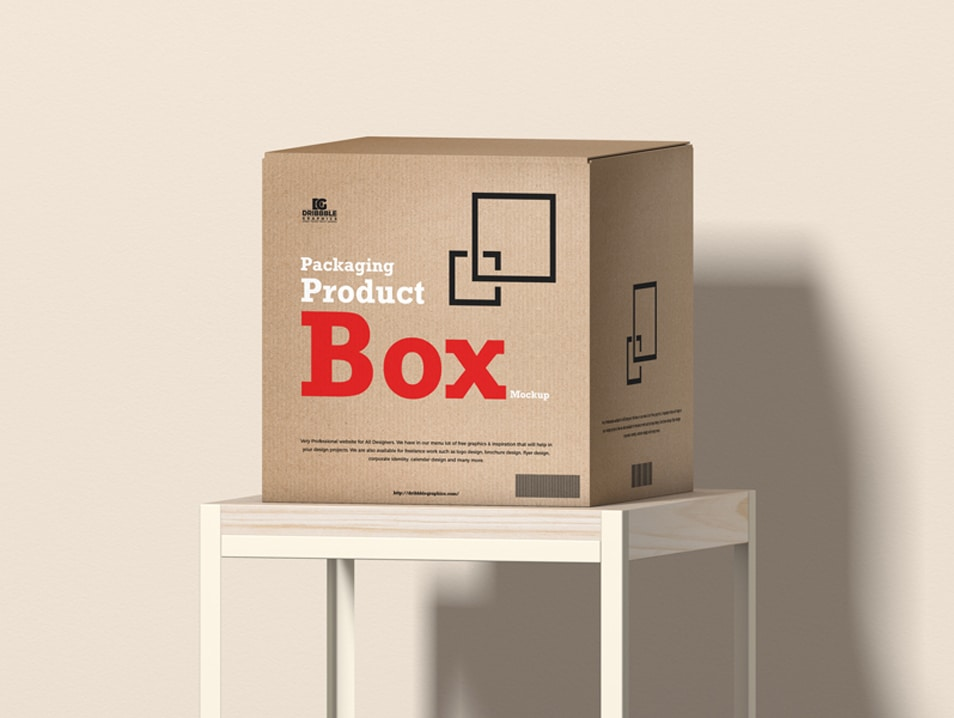 Free Packaging Product Box Mockup