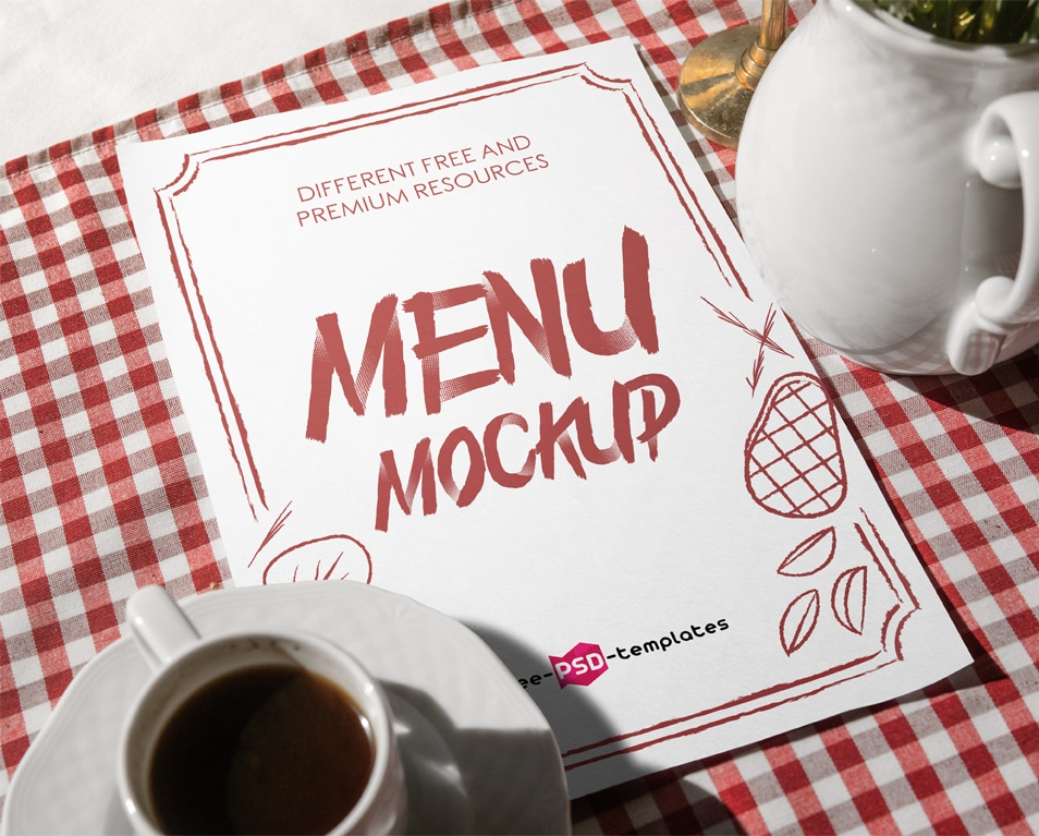 Free Restaurant Menu Mock-up in PSD