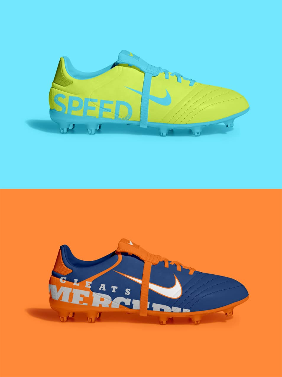 Free Soccer Cleat Shoes Mockup PSD