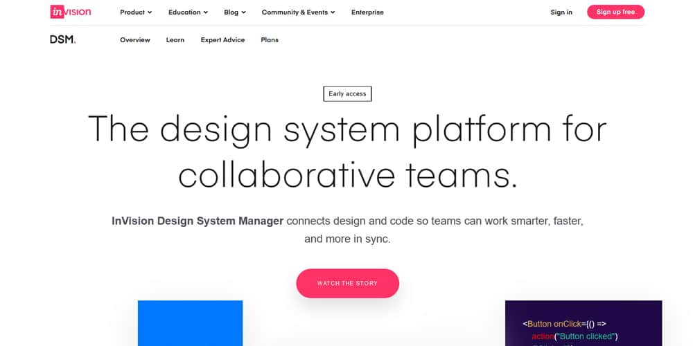 Invision's Design System Manager