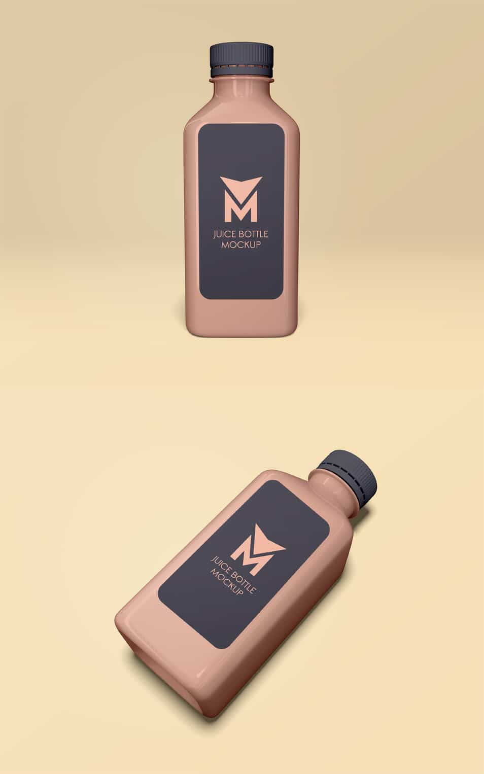 Juice Bottle Free PSD Mockups
