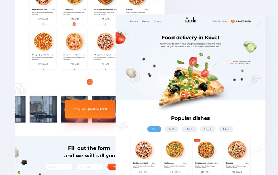 Landing Food Delivery Template