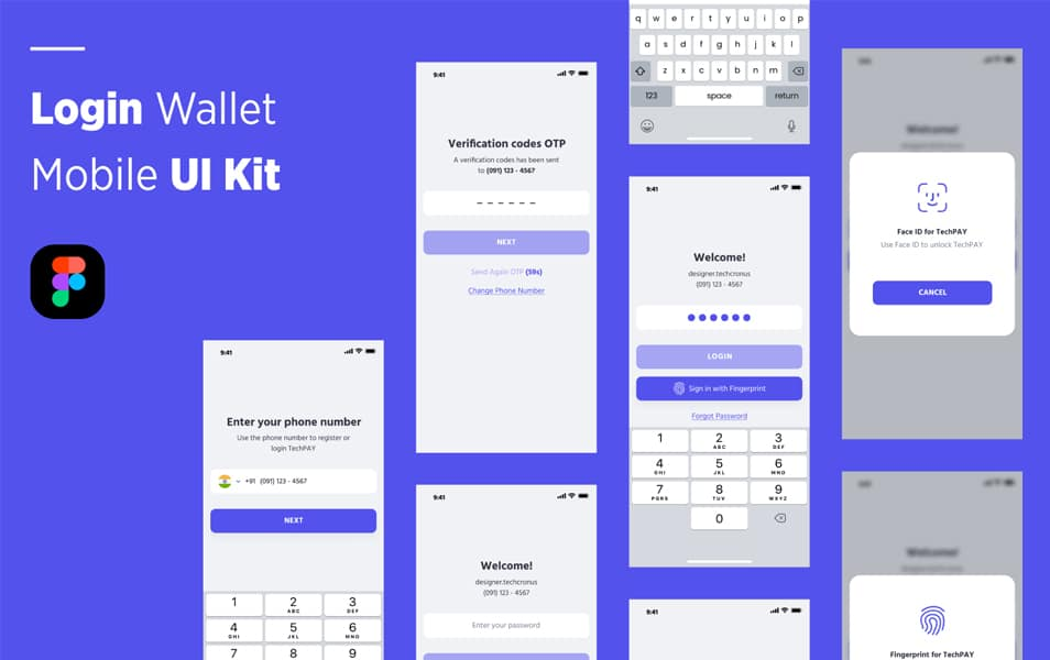 Login Wallet Mobile UI Kit