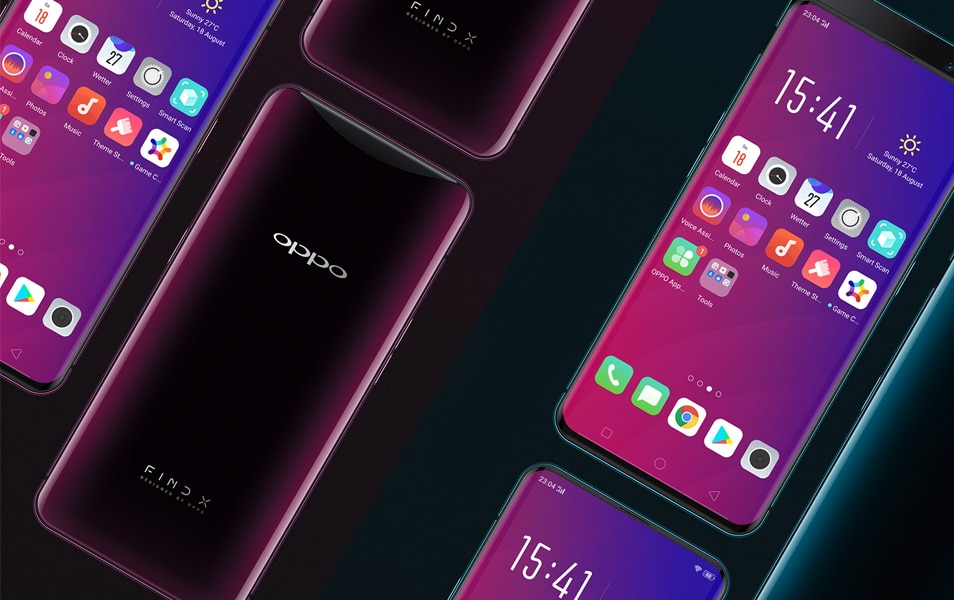 OPPO Find X Device Mock up