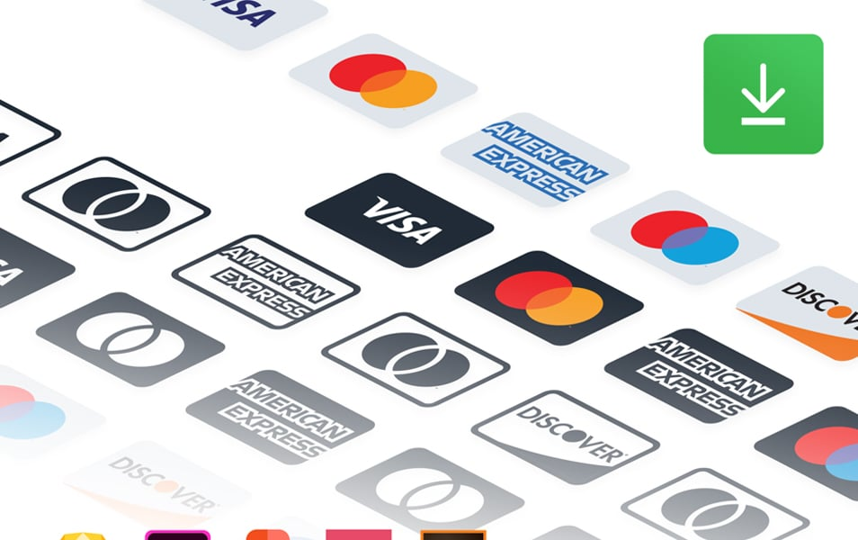 Payment Methods Credit Card Icon Set