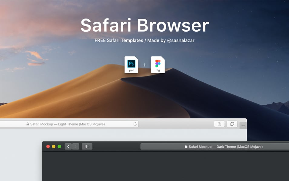 Safari Mockup (Dark & Light Themes)