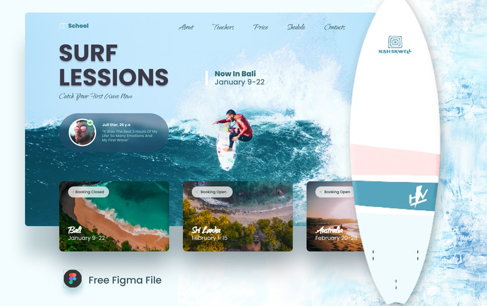 Surf School Website Template