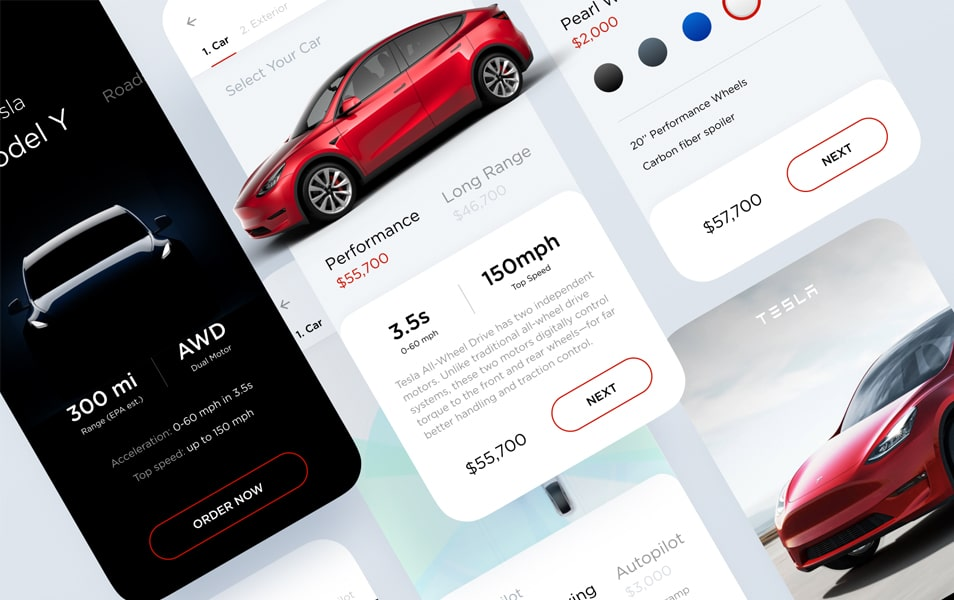Tesla Model Y Concept UI Kit