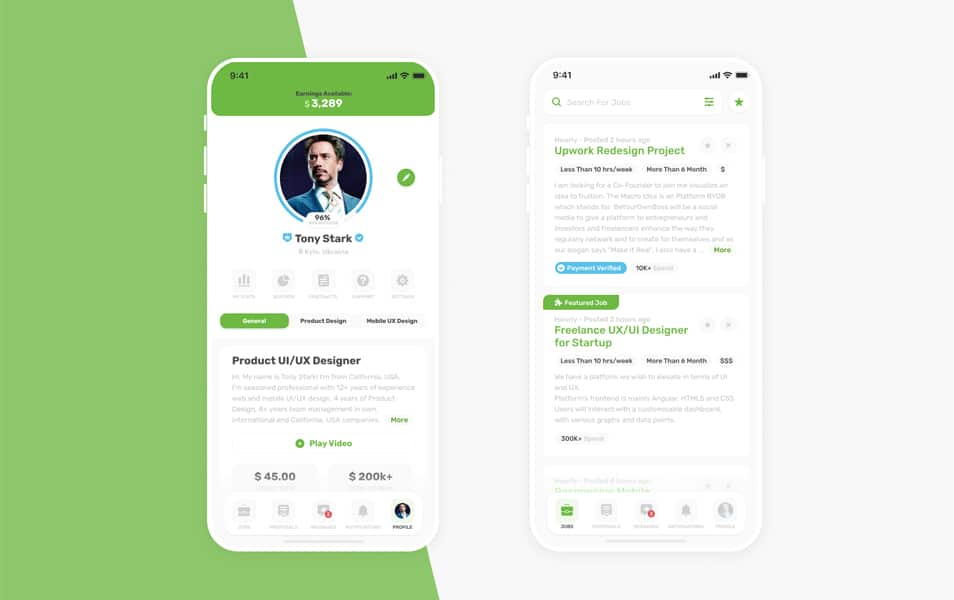 Upwork App Kit for Figma