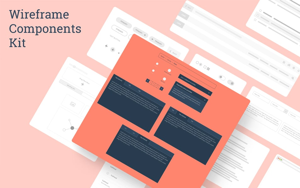 Wireframe Components Kit for Desktop